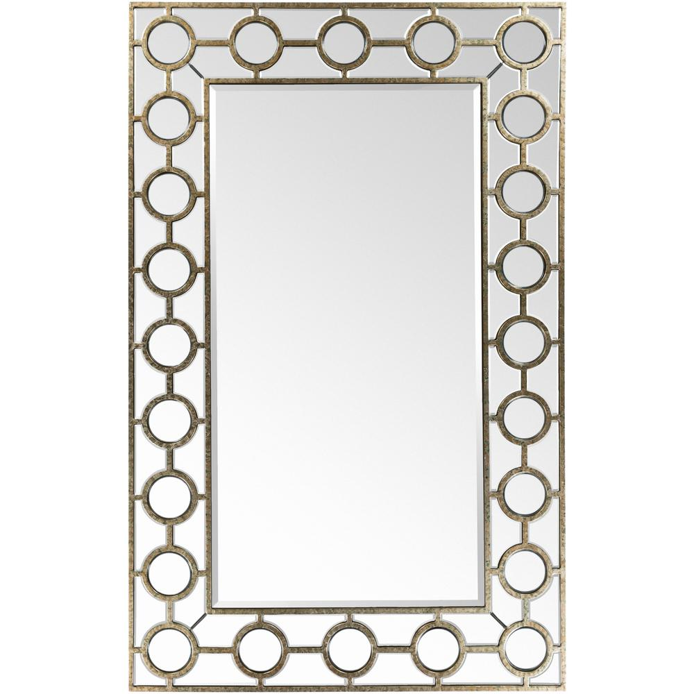 Kerri 60 in. x 38 in. Traditional Framed Mirror