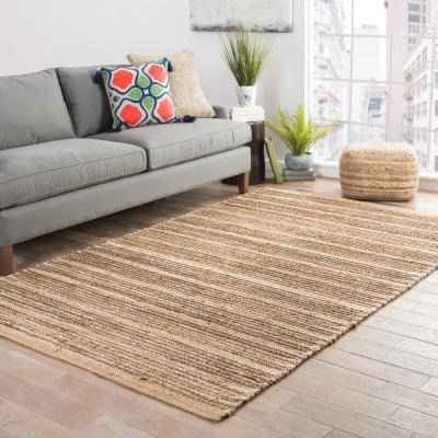 Natural Warm Sand 3 ft. x 4 ft. Solid Area Rug