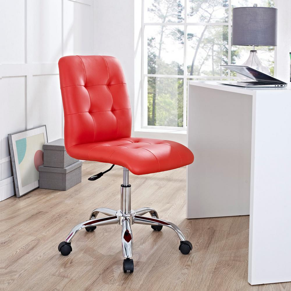Ordinaire MODWAY Prim Armless Mid Back Office Chair In Red