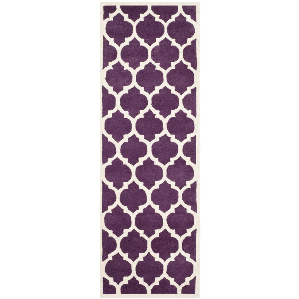 Safavieh Chatham Purple/Ivory 2 ft. 3 in. x 9 ft. Runner
