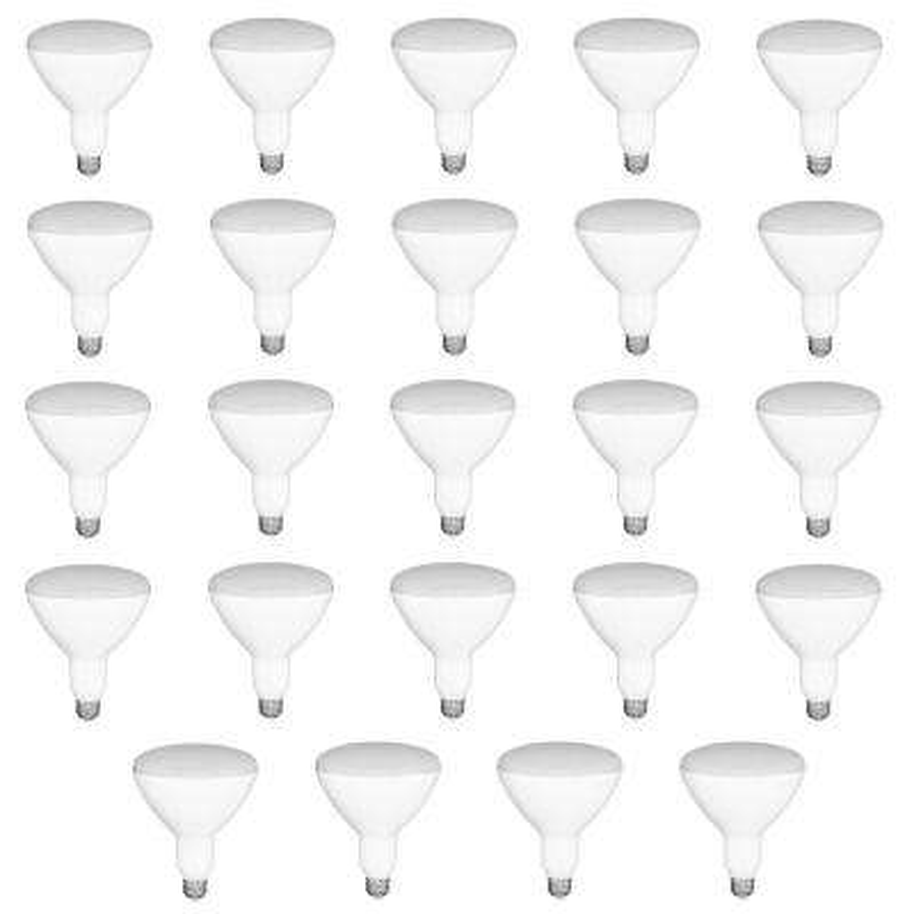 65-Watt Equivalent BR30 Dimmable LED Light Bulb Daylight (24-Pack)