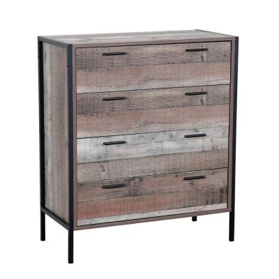 4-Spacious Drawers Rustic Reclaimed Collection Chest