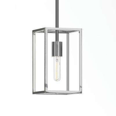 Cuadro 10 in. Square Framed Pendant in Nickel