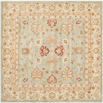 Antiquity Grey Blue Beige 10 Ft X Square Area Rug