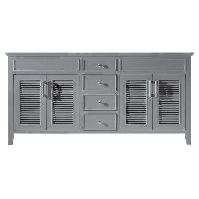 Elise 71.2 in. W x 21.7 in. D x 33.5 in. H Bath Vanity Cabinet Only in Taupe Grey