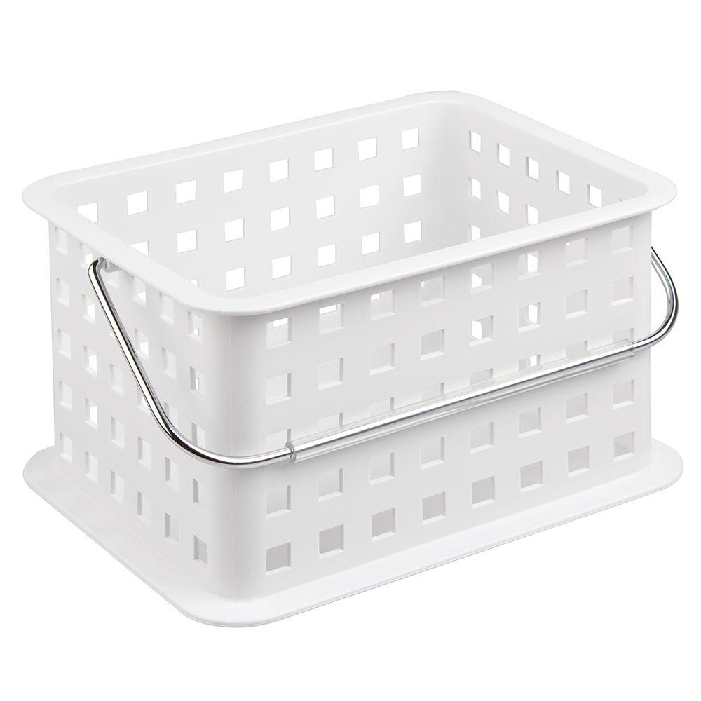 interDesign Small Basket in White-46201 - The Home Depot