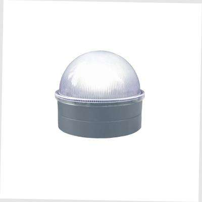 Silver Chainlink Summit Solar Post Cap Integrated Led Post Cap (2-Pack)
