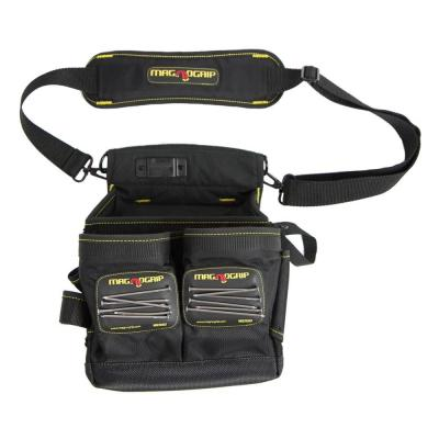 20-Pocket Magnetic Electrician's Tool Pouch with Shoulder Strap