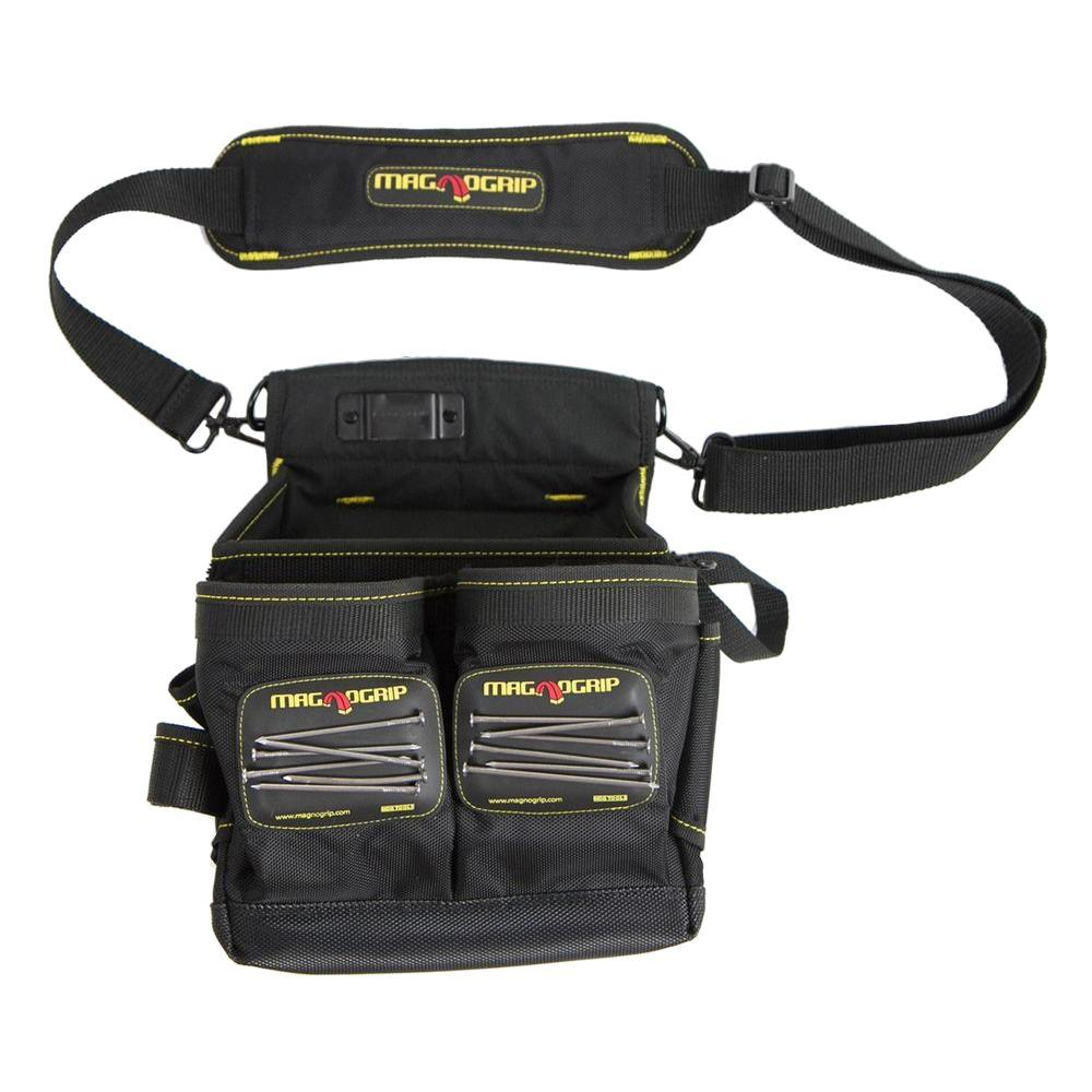 magnogrip 20pocket magnetic tool pouch with shoulder strap
