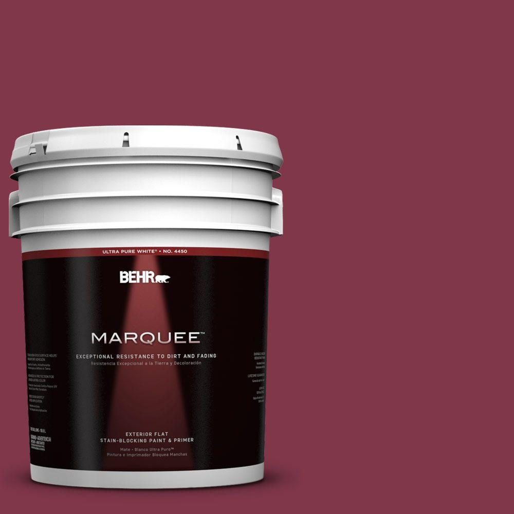 5-gal. #120D-7 Ruby Red Flat Exterior Paint