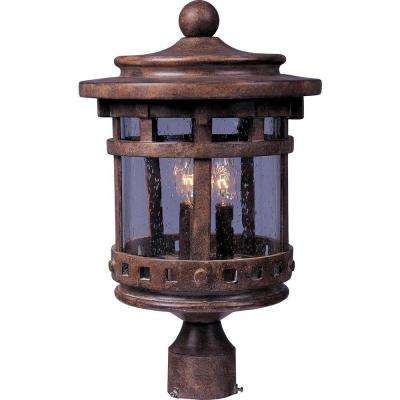 Santa Barbara VX 3-Light Sienna Outdoor Pole/Post Mount