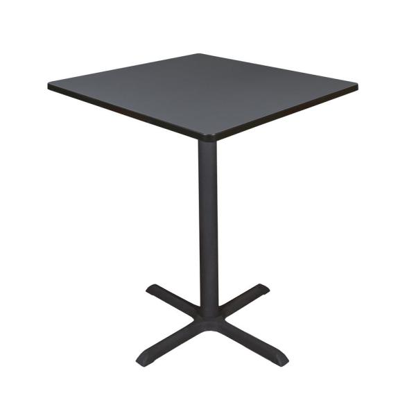 Regency Cain Grey 36 in. Square Cafe Table TCB3636GY