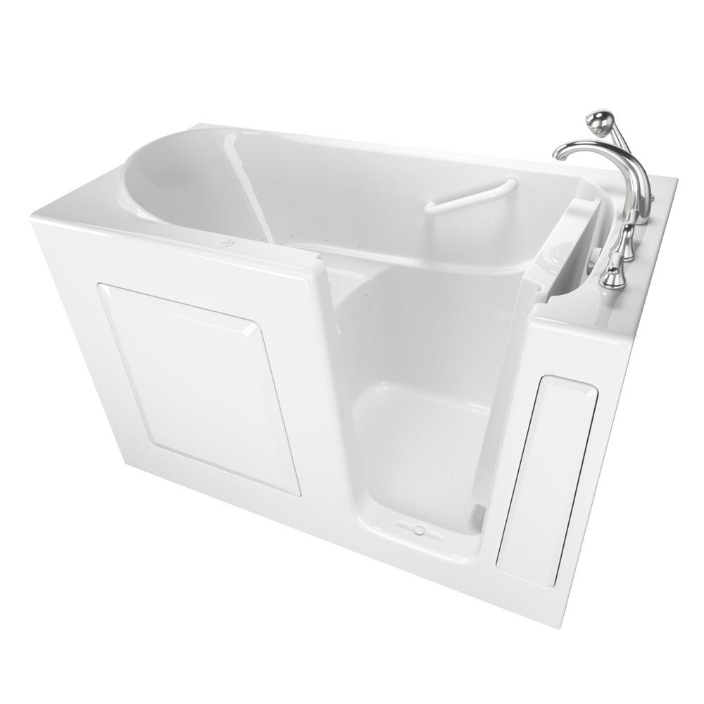 Safety Tubs Value Series 60 in. Right Hand Walk-In Air Bath Bathtub in White