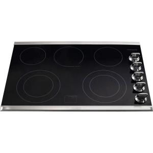 Frigidaire Gallery 30 In Ceramic Glass Electric Cooktop In Stainless Steel With 5
