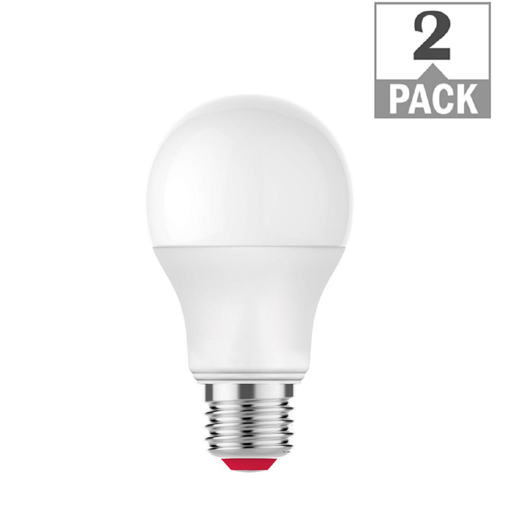EcoSmart 60-Watt Equivalent A19 Dimmable SMART LED Light Bulb Tunable White (2-Pack)