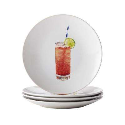 Dinnerware Cocktails 4-Piece Stoneware Party Plate Set in Assorted
