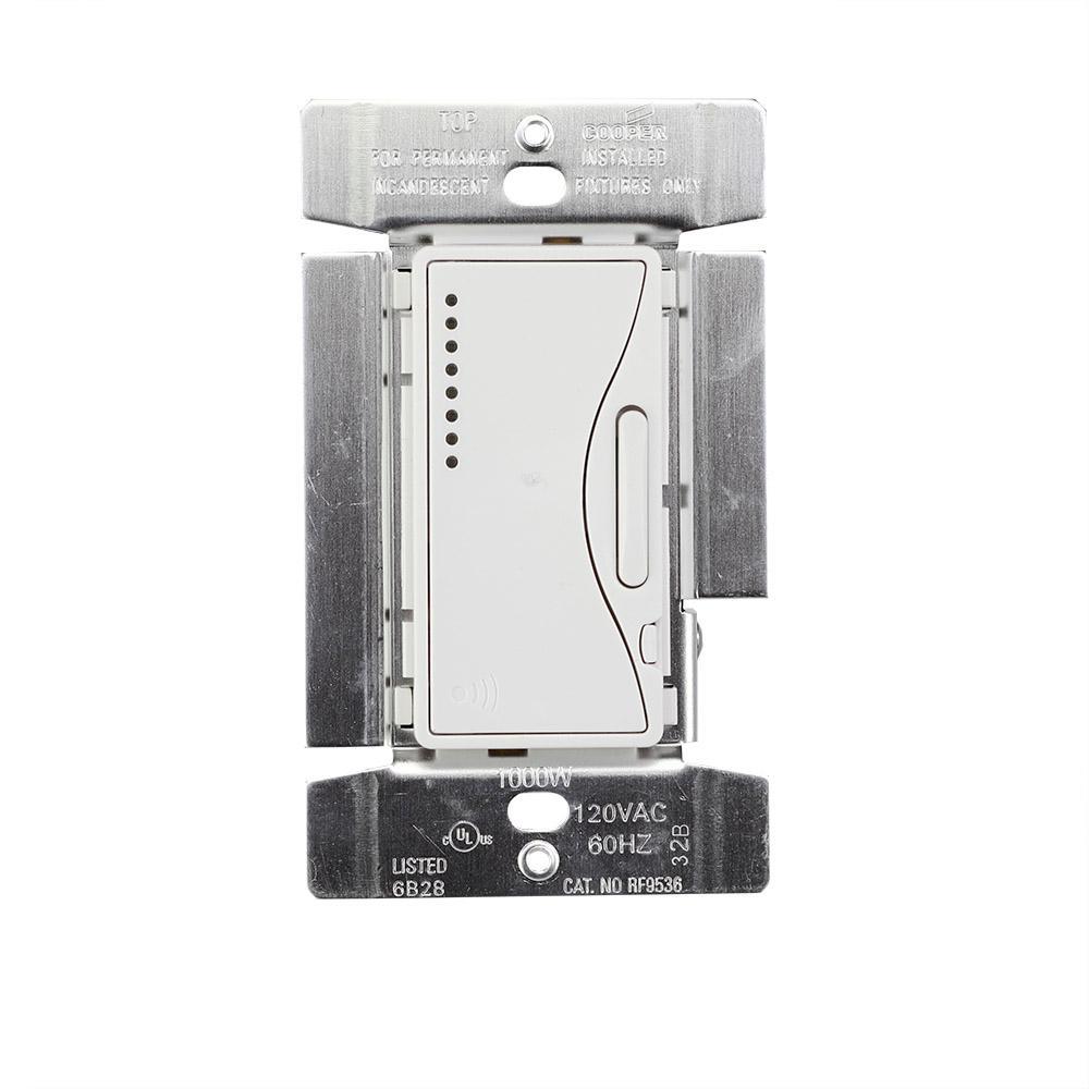 Aspire 1000-Watt Incandescent Smart Dimmer System Masters, Alpine White