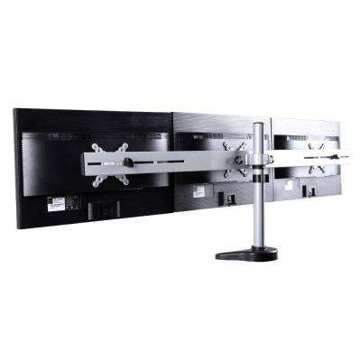 Triple Monitor Arm Desk Mounts LCD Stand for 10 in. - 24 in. Flat Panel Screens Support 22 lbs. Per Monitor