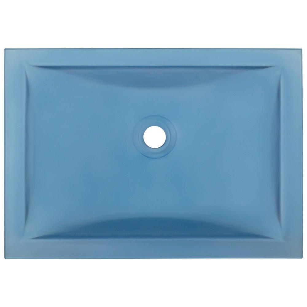 Polaris Sinks Undermount Glass Bathroom Sink in Aqua-PUG3191-AQ ...