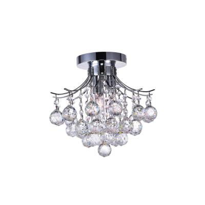 Princess 3-Light Chrome Flush Mount