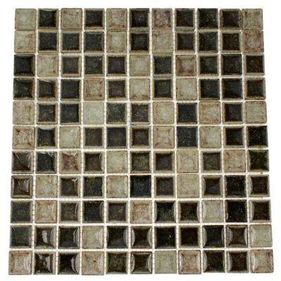 Roman Selection IL Fango 12 in. x 12 in. x 8 mm Glass Mosaic Floor and Wall Tile