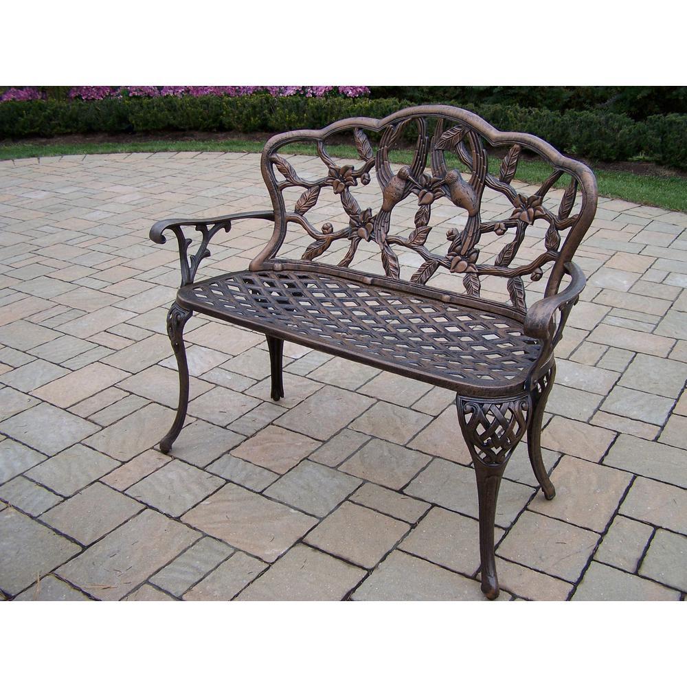 Cool Hummingbird Cast Aluminum Outdoor Loveseat Bench Andrewgaddart Wooden Chair Designs For Living Room Andrewgaddartcom