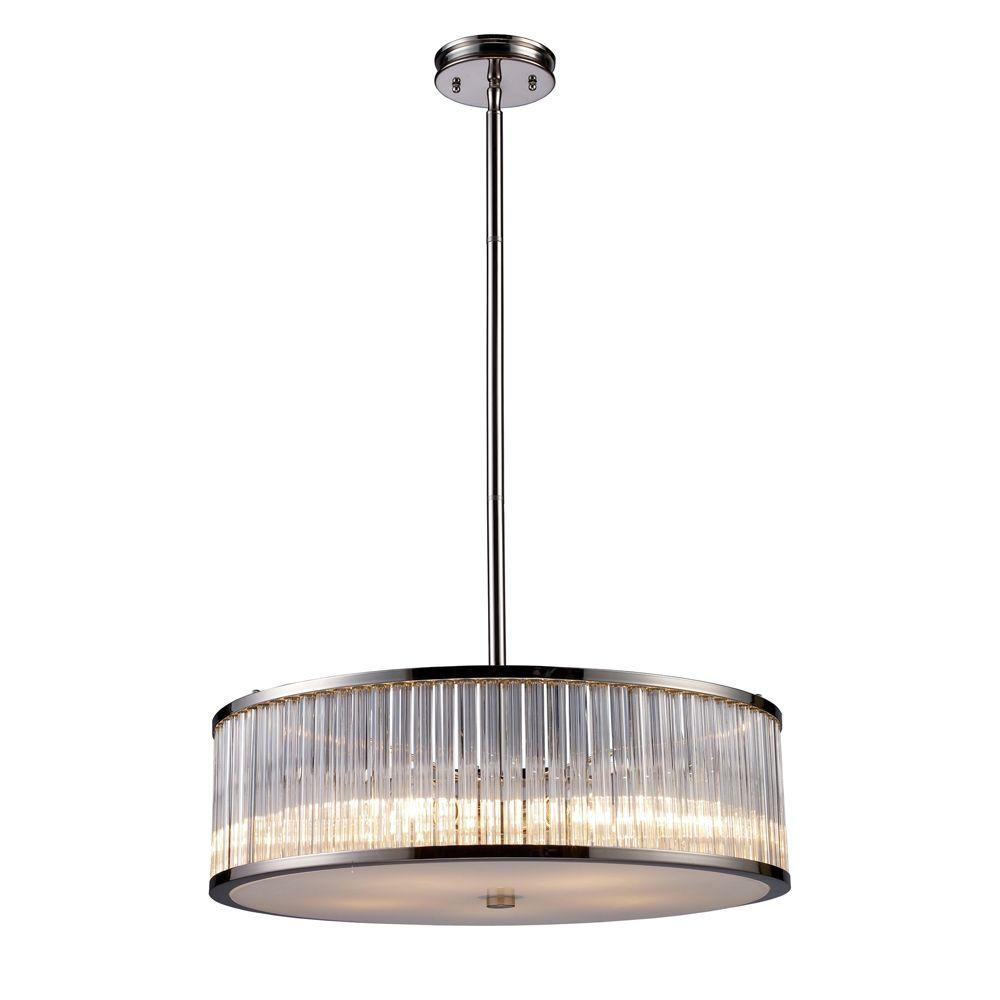 Braxton 5-Light Polished Nickel Ceiling Pendant