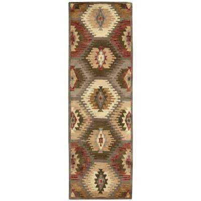 Southwest Multi-Colored 2 ft. 6 in. x 8 ft. Native American Runner Rug
