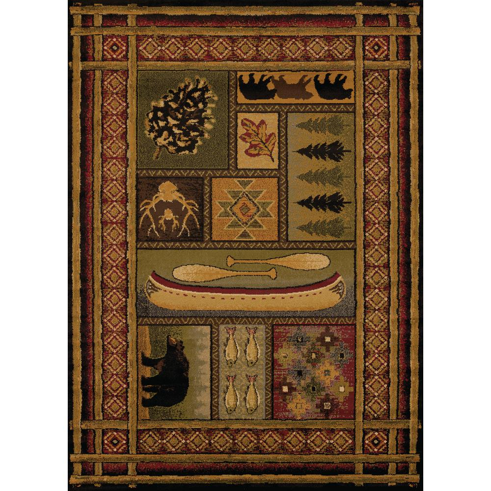 United Weavers Affinity Lodge Canvas Multi 5 ft  3 in  x 7 ft  2 in  Area  Rug
