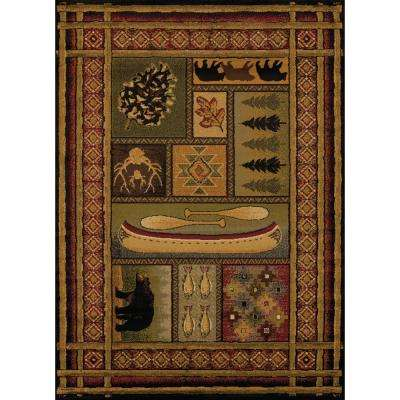 United Weavers Affinity Lodge Canvas Multi 7 ft. 10 in. x 10 ft. 6 in. Area Rug