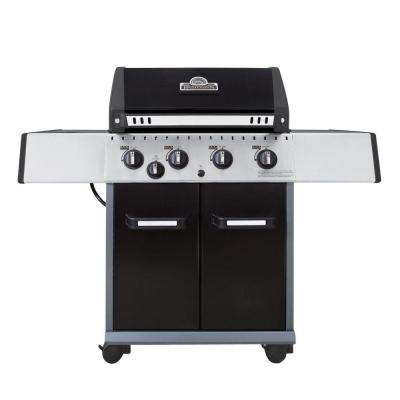 Patriot 4400 4-Burner Propane Gas Grill in Black with Side Burner