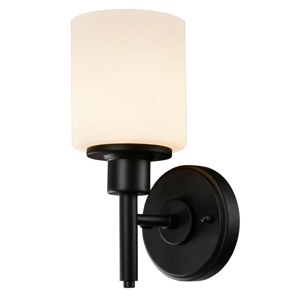 Aubrey 1-Light Matte Black Indoor Wall Sconce