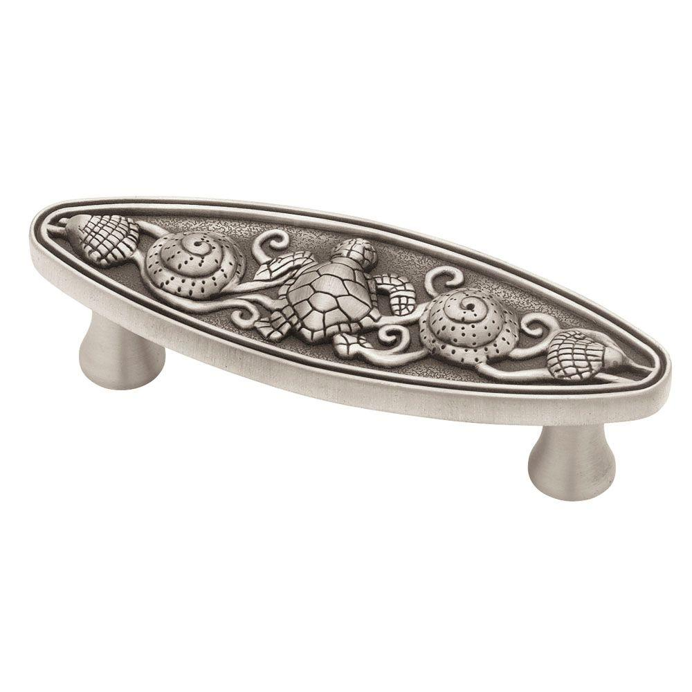 Liberty Seaside Cottage 3 in. (76mm) Brushed Satin Pewter Oval ...