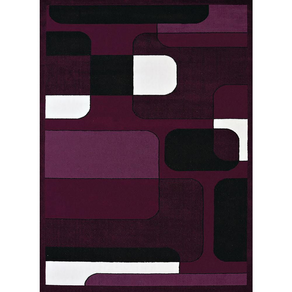 United Weavers Caf Breakfront Plum 5 Ft 3 In X 7 Ft 2