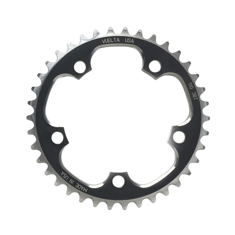 NOS Vuelta 42t CNC T6 Chainring 94 BCD ATB MTB 90/'s Retro Silver 5-Bolt