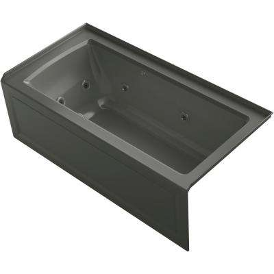 Archer 60 in. Right-Hand Drain Rectangular Apron Front Whirlpool and Air Bath Bathtub in Thunder Grey