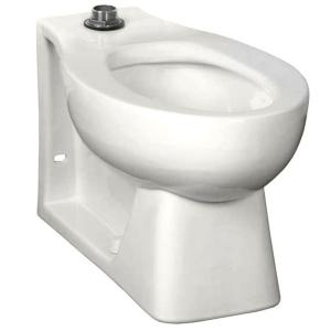 American Standard Neolo Flushometer 1.6 GPF Elongated Back Spud Toilet Bowl Only with Integral Seat in White by American Standard