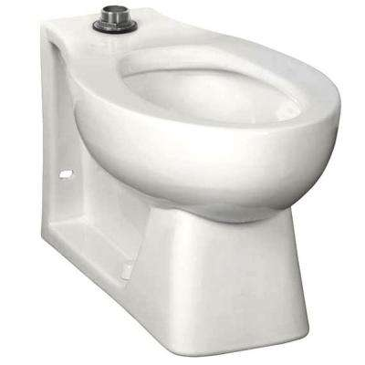 Neolo Flushometer 1.6 GPF Elongated Back Spud Toilet Bowl Only with Integral Seat in White