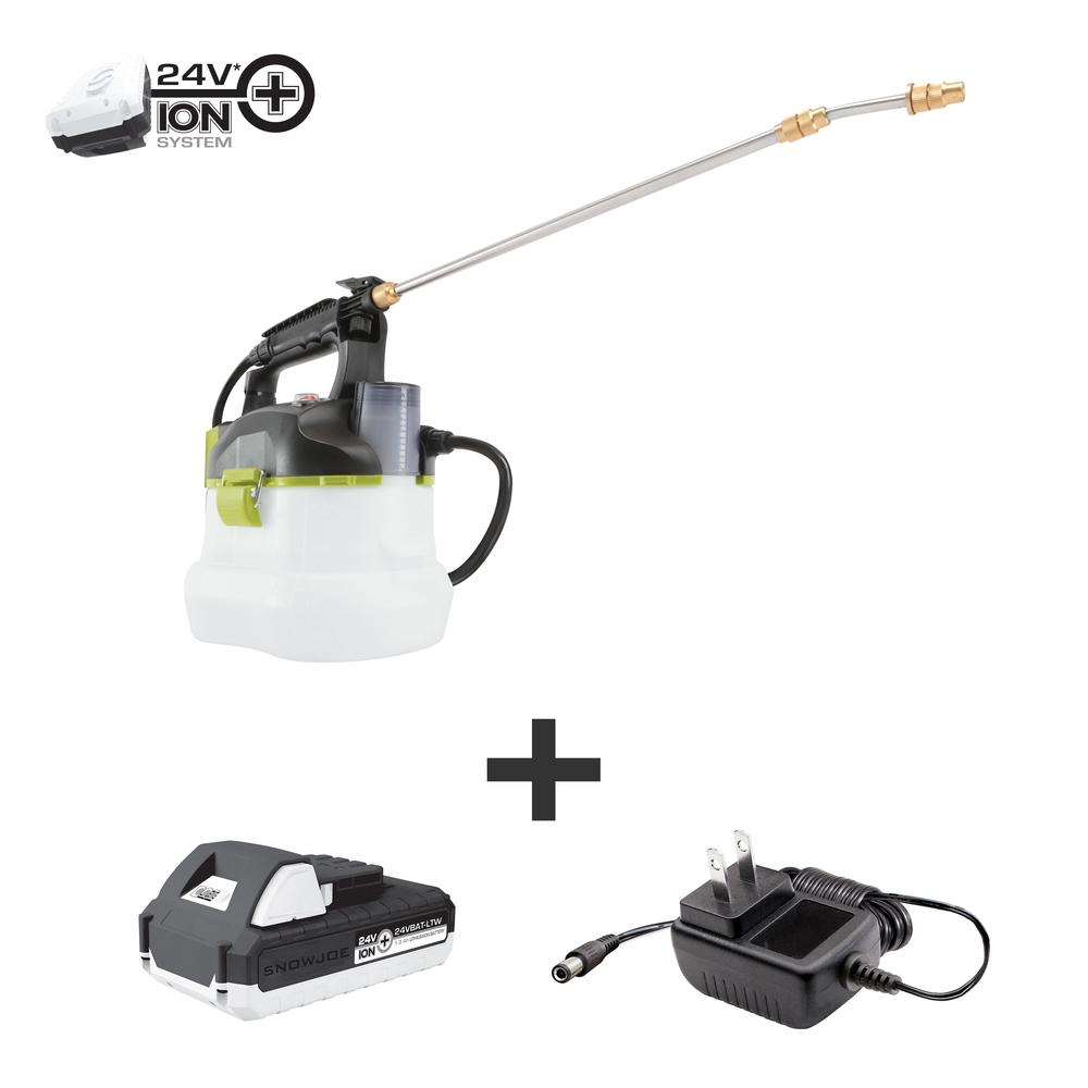 Sun Joe 24-Volt Multi-Purpose Chemical Sprayer Kit with 1.3 Ah Battery and Charger