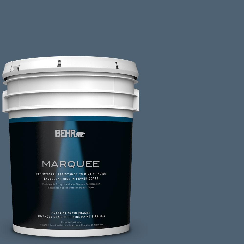 5 gal. #T17-17 Midnight Show Satin Enamel Exterior Paint