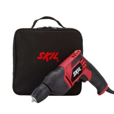 6.5 Amp Corded Electric 3/8 in. Variable Speed Drill/Driver with Carrying Case
