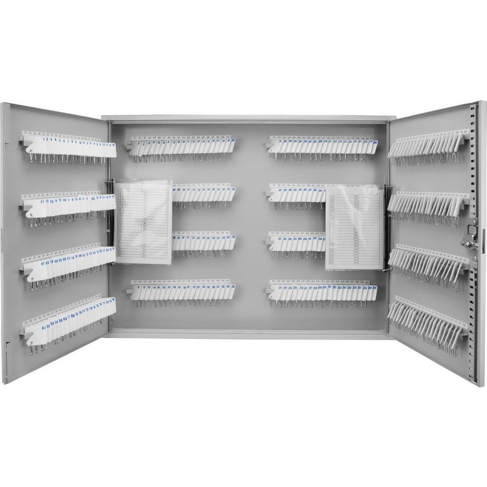 BARSKA 320-Position Steel Key Cabinet Safe with Key Lock, Gray by BARSKA
