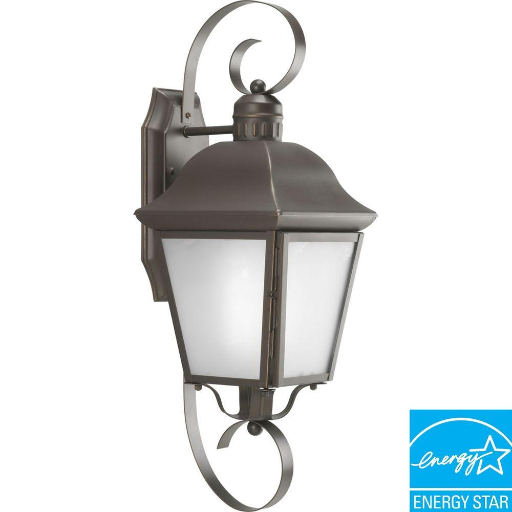 Progress Lighting Andover Collection Antique Bronze 1-light Wall Lantern-DISCONTINUED