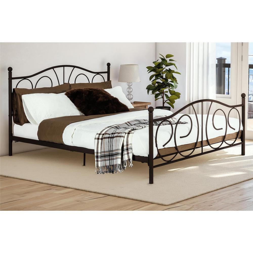 Queen Bronze Beds Bedroom Furniture The Home Depot