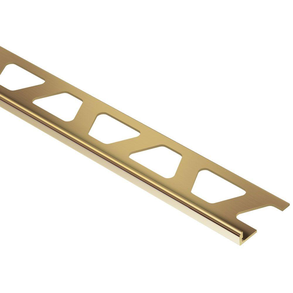 Schluter Schiene Solid Brass 3/16 in. x 8 ft. 2-1/2 in. Metal L-Angle Tile Edging Trim