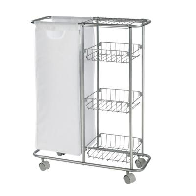 Collecting Trolly Chrome Kitchen Cart