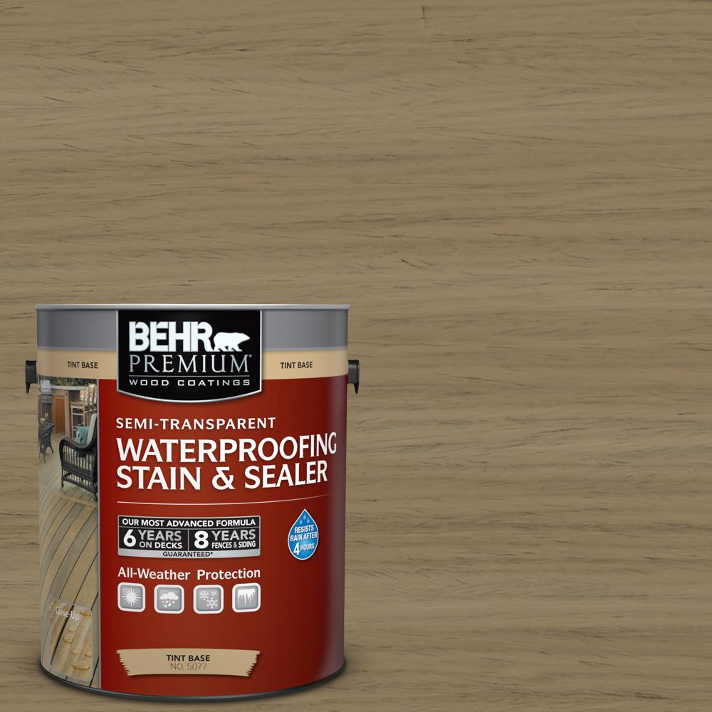 BEHR Premium 1 gal. #ST-121 Sandal Semi-Transparent Waterproofing Stain and Sealer