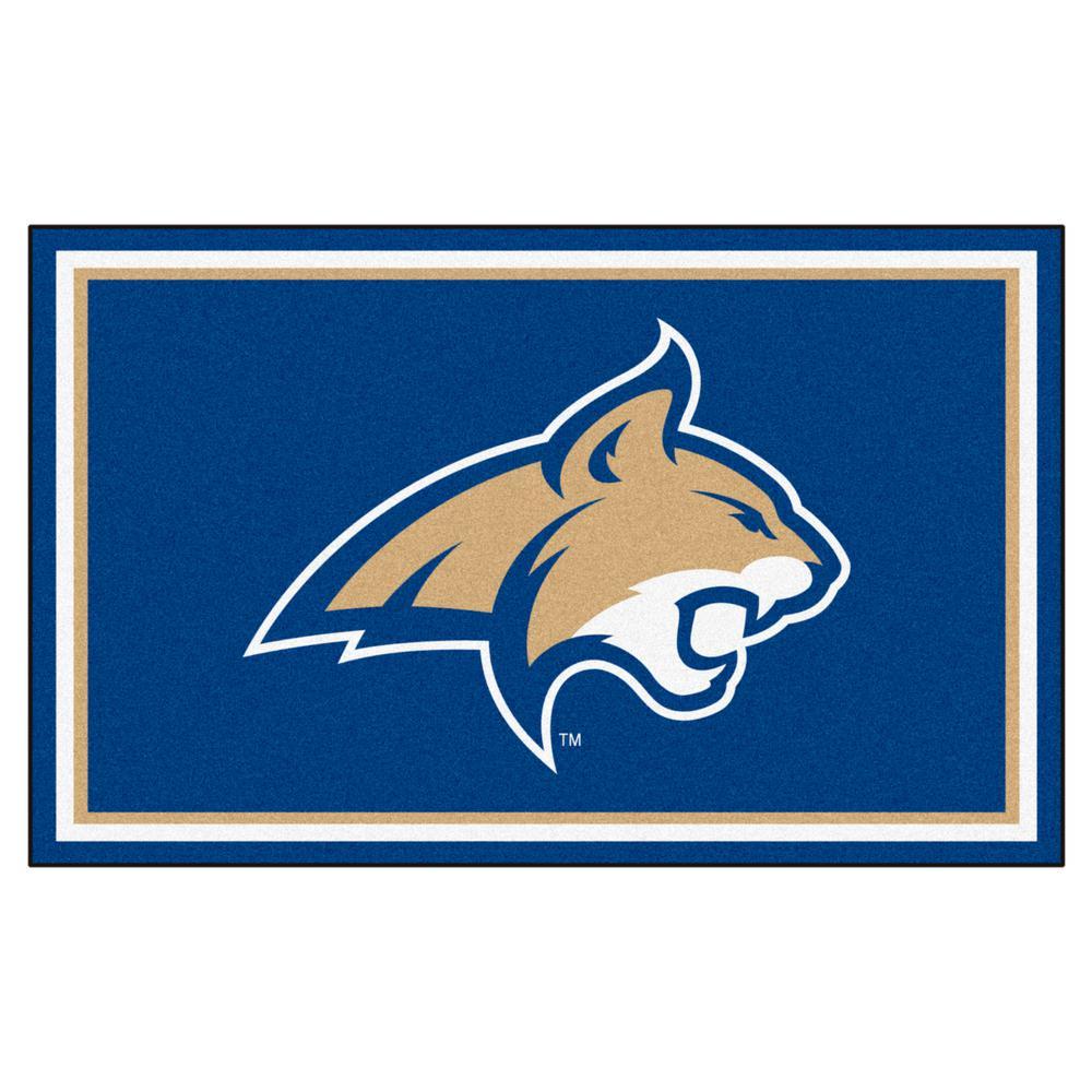 Fanmats Ncaa Montana State University Blue 4 Ft X 6 Ft