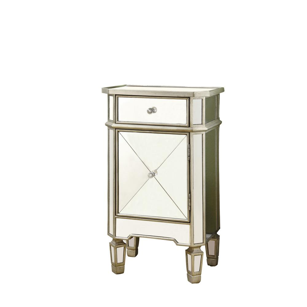 Monarch Specialties Mirrored End TableI 3702 The Home Depot