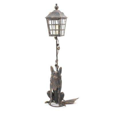 55 in. Iron Fox Lamp Post